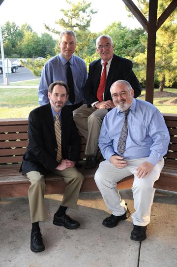 HERNIA SPECIALISTS Left to Right William N. Bothwell, M.D., Robert V. Kolecki, M.D., James A. Goodyear,M.D (Director)., Richard J. Minehart,M.D  .